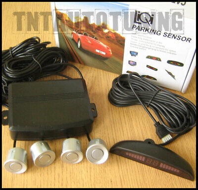 £26.45 • Buy Reverse Parking Kit With 4 Grey / Silver Sensors - LED Display Buzzer Alarm New