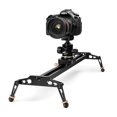 $74.99 • Buy 40 Inches Camera Slider For DSLR Aluminum Alloy Dolly Track With 17.6lbs Loading