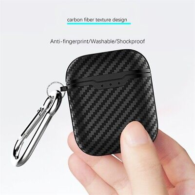 $ CDN4.47 • Buy Carbon Fiber Slim Headset Case Cover Protector Box For Apple AirPods 2 & 1 UK FW