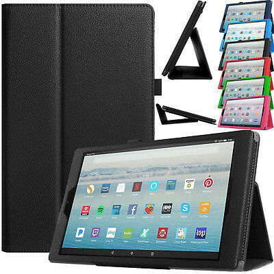 Leather Magnetic Stand Case Smart Cover For Amazon Fire HD 10 2017 Alexa 7th Gen • 6.98£