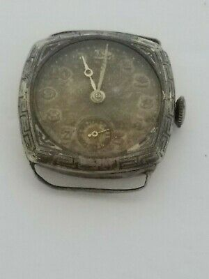 $ CDN39.35 • Buy Vintage 800 Silver Mechanical Swiss Watch - Selling FOR Case & Parts