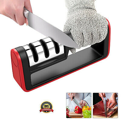 $7.99 • Buy Knife Sharpener Professional Ceramic Tungsten Kitchen Sharpening System Tool