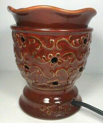 Scentsy Roma Renaissance Collection Full Size Red Burgandy Wax Warmer Retired • 29.99$