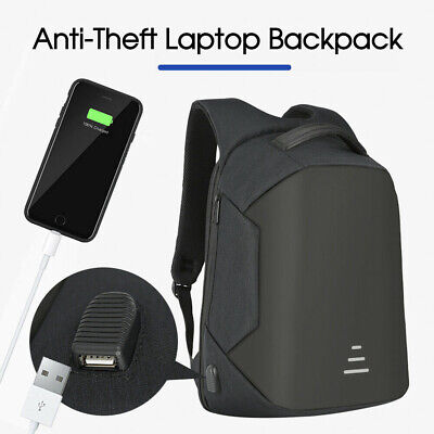 AU24.71 • Buy Anti-Theft Backpack Water Repellent Design Travel School Bags With USB Port