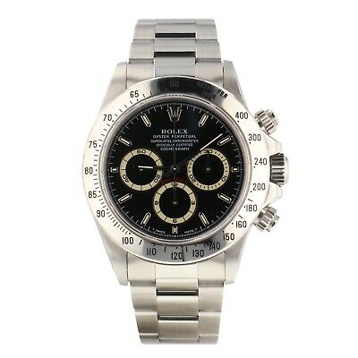 $ CDN48351.03 • Buy Rolex Cosmograph Daytona With Zenith Movement 40mm Black Dial Watch 16520 Papers