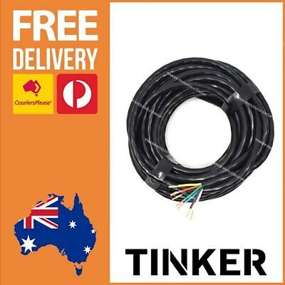 AU42.08 • Buy 7 Core Trailer Wire 3mm X 10m Roll - Box Boat Trailer Cable 7 Core Aussie Made