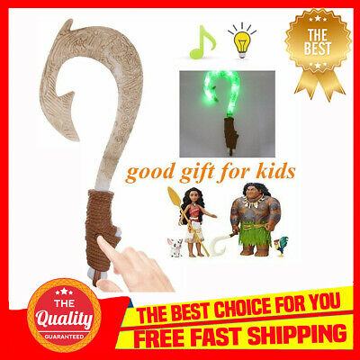 AU15.47 • Buy Maui Light-Up Sound Fish Hook Moana Exquisite Toys For Kids Birthday Gifts UC
