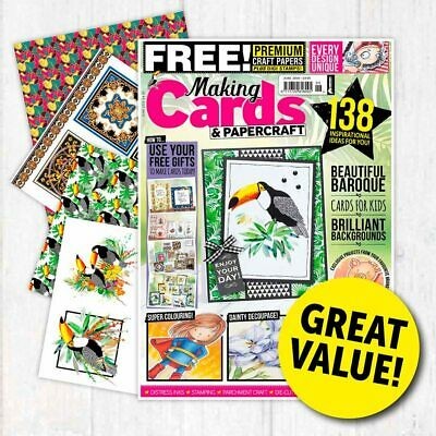 Making Cards & Papercraft Magazine June 2019 Toucan&Baroque Papers&Parchment Mag • 4.99£