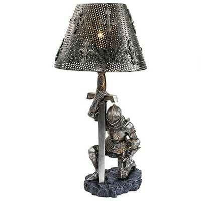 $157.95 • Buy Medieval Gothic Knight Table Lamp Bend The Knee Pledging Fealty Lamp