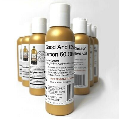 AU31.21 • Buy Carbon 60 Olive Oil 90mg / 100ml Organic C60 Supplement 99.9+% Solvent Free C60