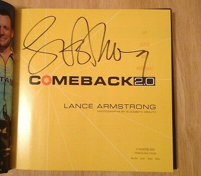 £180.45 • Buy SIGNED Comeback 2.0 : Up Close And Personal By Lance Armstrong HC 1/1 + PHOTO