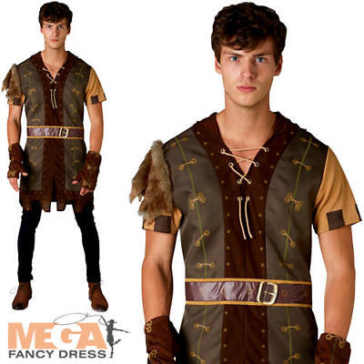 Robin Hood Mens Fancy Dress Medieval Hunter Adults World Book Day Costume Outfit • 24.99£