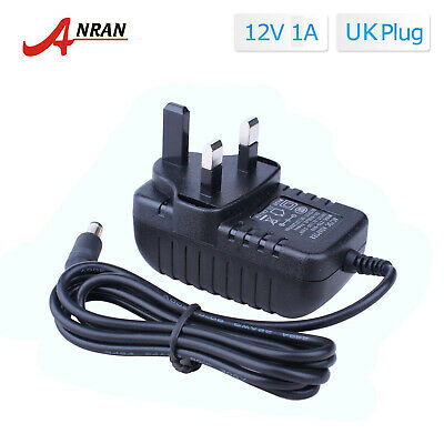 Anran AC 110-240V Adapter DC 12V 1A Power Supply Plug CCTV Security Camera UK • 5.99£