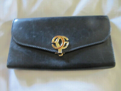 ff0921335dcf GUCCI GG Logos Organizer Wallet Navy Italy Vintage Authentic • 110.00$