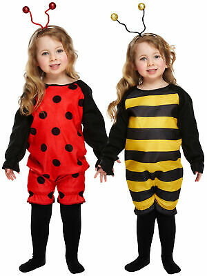 Kids Ladybird Bumblebee Costume Boys Girls Fancy Dress Insect Book Week Outfit • 7.45£