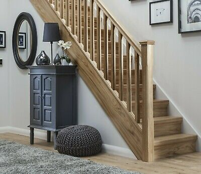 £218.90 • Buy Solid Oak Stop Chamfered Stair & Landing Balustrade Staircase Kit Inc Newels
