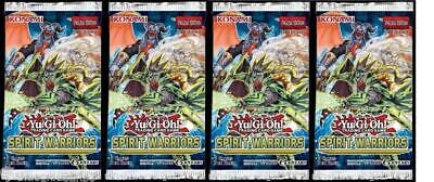 YuGiOh! Spirit Warriors 1st Edition New And Sealed Booster Packs X4 • 10.89£