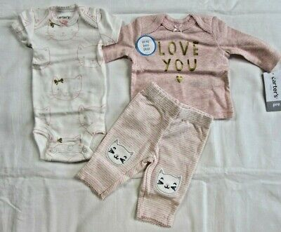 e9ef2c34d Baby Girl Clothes, Preemie, Carter's 3 Piece Set/New With Tags • 11.99