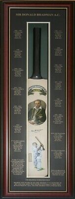 AU1995 • Buy Blazed In Glory - Sir Donald Bradman - Hand Painted And Signed Cricket Bat