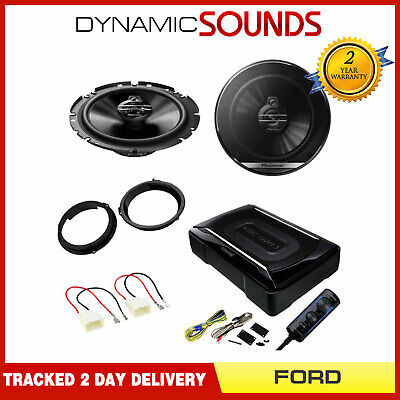 Ford Transit Custom 2010 Onwards Front Door Speaker Under Seat Subwoofer Kit • 156.95£