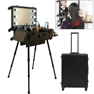 $269.92 • Buy Makeup Case Lighted Mirror Rolling Portable Cosmetic Professional Artist Trolley