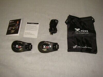 AU179.25 • Buy Xvive U2 Wireless Guitar Transmitter & Receiver System Black