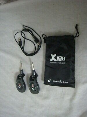 AU166.36 • Buy Xvive U2 Wireless Guitar Transmitter & Receiver System Grey