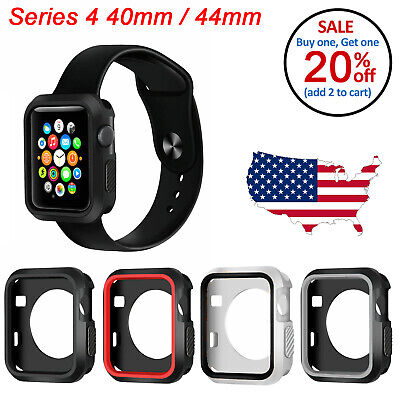 $ CDN4.41 • Buy TPU Bumper Shockproof Case Hard Cover For Apple Watch Series 4 44mm 40mm