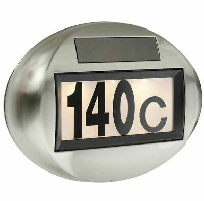 Solar House Number Lighting Light Lamp Illuminated LED Stainless Steel • 23.34£