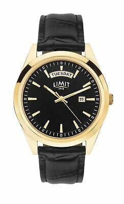 Limit Men's Classic Gold Plated Watch With Black Dial & Black Strap 5750 • 29.99£