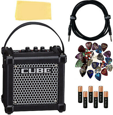 AU254.44 • Buy Roland Micro Cube GX Battery-Powered Guitar Amplifier - Black W/Instrument Cable