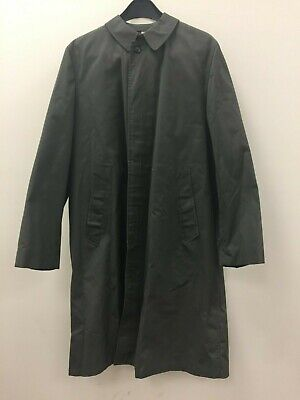 $ CDN31.80 • Buy Vintage Koratron Army Green Button-Down Trench Coat/Rain Jacket, Size 38 Long