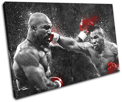 Mike Tyson Boxing Grunge Sports SINGLE CANVAS WALL ART Picture Print • 24.99£