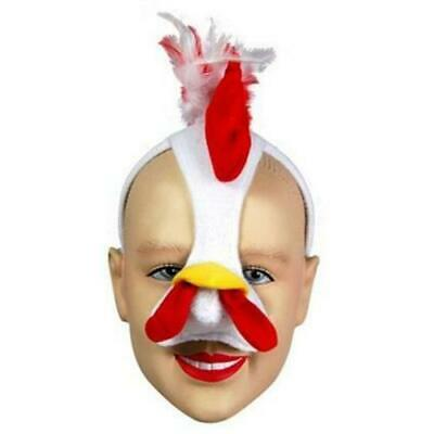 £6.49 • Buy Chicken Mask With Sound Fancy Dress Kids Adults Farm Animal Book Week Costume Ac