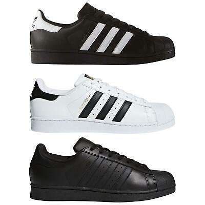 $ CDN86.54 • Buy Adidas ORIGINALS SUPERSTAR TRAINERS FOUNDATION SHELL TOE SHOES SNEAKERS LEATHER