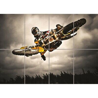 Motocross Bike Jump Freestyle New Giant Wall Art Print Picture Poster • 12.99£