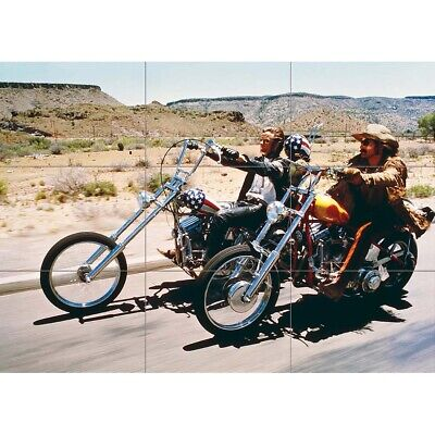 Easy Rider Film Fonda Hopper Giant Wall Mural Art Poster Print 50x35 Inches • 13.99£