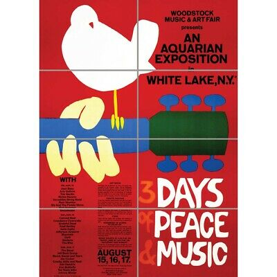 Music Festival Concert Woodstock Peace Dove Love Legend Wall Art Poster 33X47  • 12.99£
