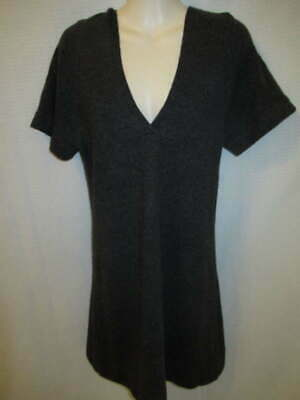 $26.95 • Buy Michael Stars 100% Cashmere Dark Gray Hooded Tunic Sweater Dress May Fit XS S