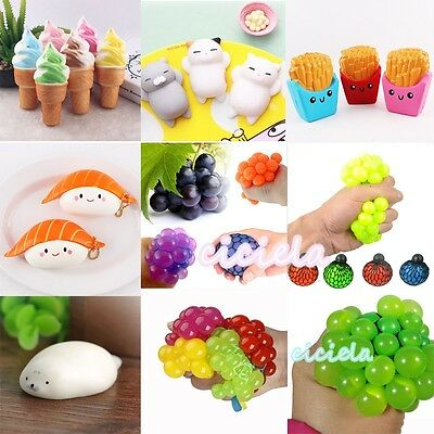 $ CDN1.51 • Buy Cute Stress Anxiety Reliever Squashy Squeeze Slowly Rebound Soft Toy Phone Charm