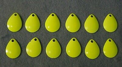 $6.78 • Buy Lot Of 12 Worth Mfg No. 3 Chartreuse Colorado Spinnerbait Blades #3