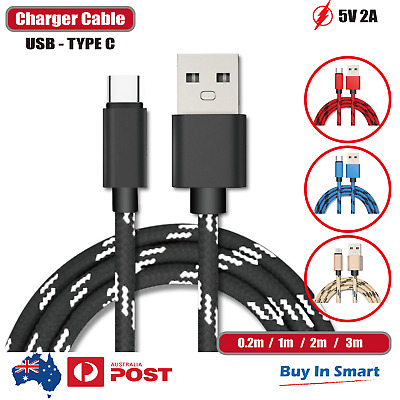 AU6.65 • Buy USB-C Type C Data & Charger Cable Fit Samsung Huawei Xiaomi Google Fast Charging