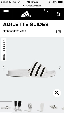 AU29 • Buy Adidas Adilette Slides White