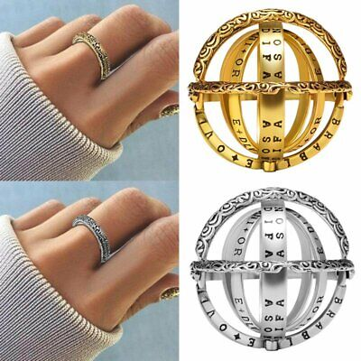 AU2.05 • Buy Stainless Steel Creative Astronomical Ball Ring Sphere Constellation Retro 7-10