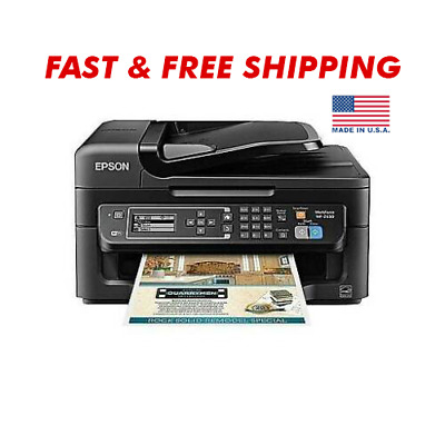 View Details Epson WorkForce WF-2630 All-in-One Wireless Color Printer Wifi Scanner Fax Copy • 76.92$