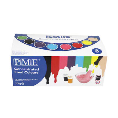 PME Set Of 8 Icing Fondant Food Colour Gel Paste Cup Cake Decorating • 9.99£