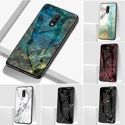 AU14.69 • Buy Marble Pattern TPU Bumper Tempered Glass Case Back Cover For OnePlus 7 Pro 6T 5T