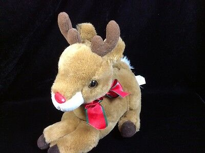 $14.07 • Buy Fiesta Reindeer Red Nose Plush Stuffed Soft Toy 9