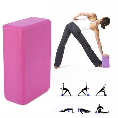 AU7.59 • Buy 1pc Yoga Block Brick Foaming Home Exercise Practice Fitness Gym Sport Tool