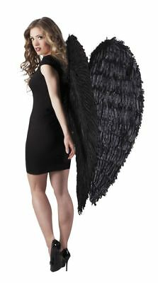 £28.99 • Buy Black Feather 120cm Angel Wings Feather Fairy Christmas Fancy Dress Accessory